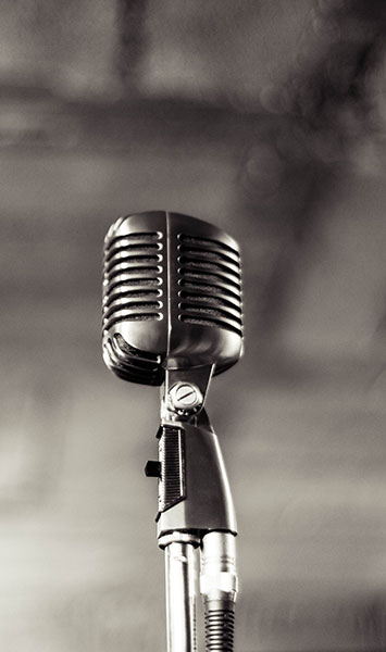 Microphone with gray background